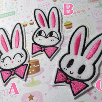 Sailor Moon inspired Usagi Doodle Bunny Iron-on Patches
