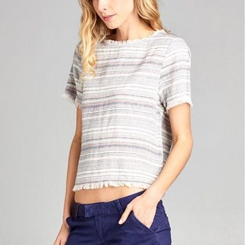 Fray Fringe Top