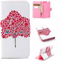 Tree Owl creative case Cover PU Leather Wallet for iPhone & Samsung Galaxy S6  iPhone 6s Plus