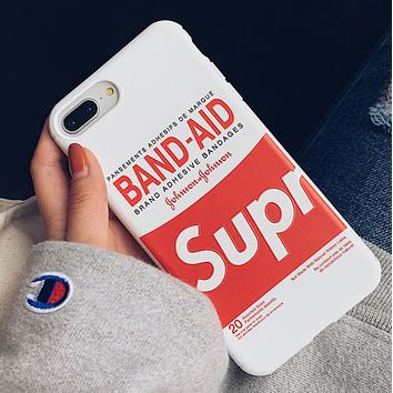 Supreme & BAND Fashion New More Letter Print Women Men Phone Case Protective Cover