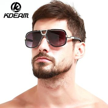 Classical Men's Sunglasses Summer Reflective Coating Square Outdoor mirror Sun Glasses Transparent glasses frame