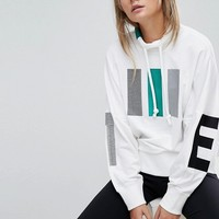 Adidas EQT High Neck Sweat In White at asos.com