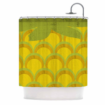 "Kathleen Kelly ""Pineapple"" Digital Food Shower Curtain"