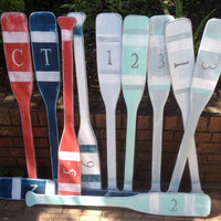 Oar Paddle Sign Numbers Letter Wall Art Nautical Beach House Lake Cottage Decor