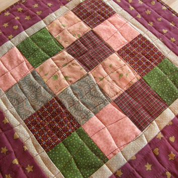 Quilted Rustic Table Runner - Small Country Patchwork Topper