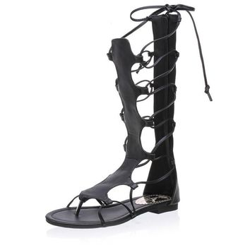 Summer Gladiator Sandals Women Shoes Lace Up Flip Flops Cross Strap High Heels