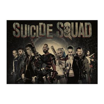 1442 classic Hollywood movie/Suicide Squad 21/kraft paper/bar poster/Wall stickers/Retro Poster/decorative painting 51x35.5