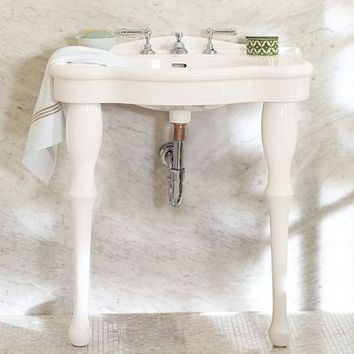 Parisian Pedestal Single Sink Console