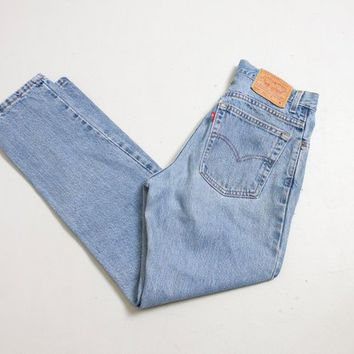 "Vintage Levi's 550 JEANS - Cotton Denim Relaxed Fit Tapered Leg High Waist Mom Jeans 1990s - 30"" x 29"""