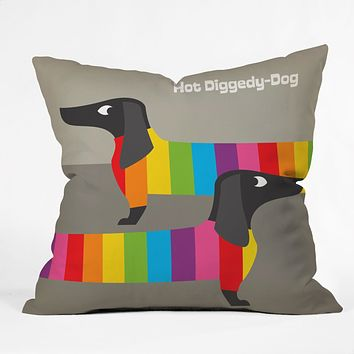 Anderson Design Group Rainbow Dogs Throw Pillow