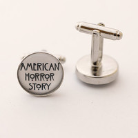 Cufflinks -  American Horror Story  - multiple colors choice -  hand made -
