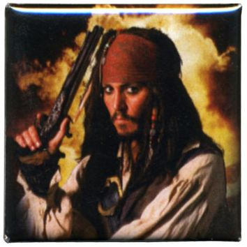 Pirates Of The Caribbean - Jack W/Pistol Button