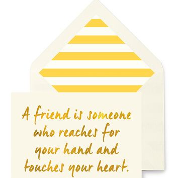 A Friend Is Someone Who Reaches For Your Hand Greeting Card, Single Folded Card or Boxed Set of 8