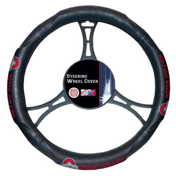 Ohio State Buckeyes NCAA Steering Wheel Cover (14.5 to 15.5)