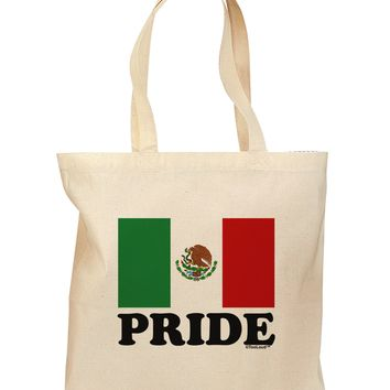 Mexican Pride - Mexican Flag Grocery Tote Bag by TooLoud