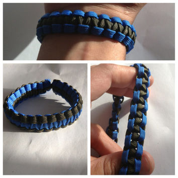 Pack of 5 Stretchy Band Paracord Survival Bracelets with NO CLASP