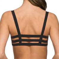 Freedom in Motion Caged Bralette in Black | Sincerely Sweet Boutique