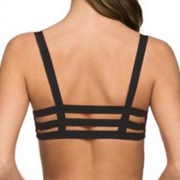 Freedom in Motion Caged Bralette in Black   Sincerely Sweet Boutique