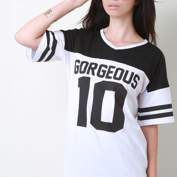 Gorgeous 10 Sports Jersey Top