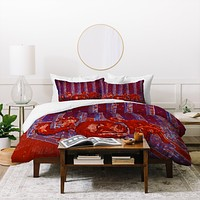 Renie Britenbucher Fox In Birch Batik Duvet Cover