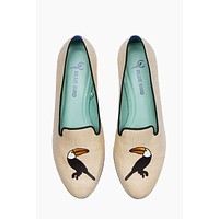 Toucan Straw Loafer - Creme White