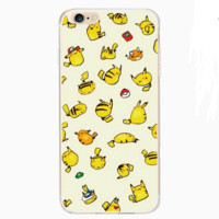 Pokemon Go!Super Cute Pikachu Thin Protective Case For Iphone 6 6s plus