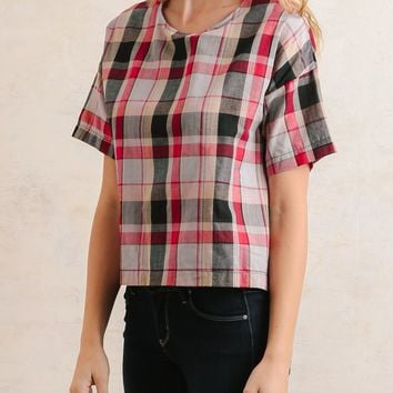 Hamilton Plaid Top | Ruche
