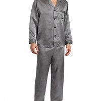 Majestic International Men's Suite Life Long Sleeve Pajama, Snow, XL