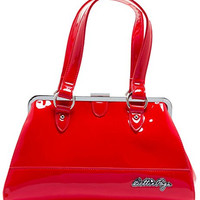 Sourpuss Bettie Page Centerfold Purse Red
