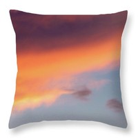 Summer Cloudscape Throw Pillow