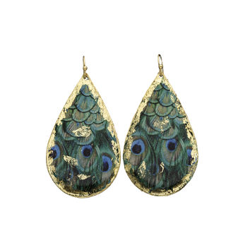Peacock Teardrop Earrings