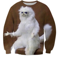 Wtf animal meme crew neck