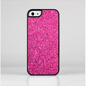 The Pink Sparkly Glitter Ultra Metallic Skin-Sert for the Apple iPhone 5-5s Skin-Sert Case