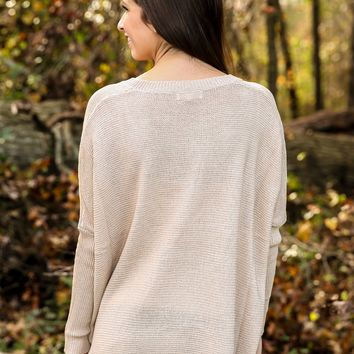 Falling Into Place Sweater-Oatmeal