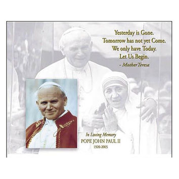 Pope John Paul II Mother Teresa