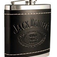 Jack Daniel's Flask Black leather - 6 z