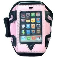 NEEWER Pink Sports / Gym / Workout iPhone Armband Case Holder for iPod Touch 1st, 2nd, & 3rd Generation