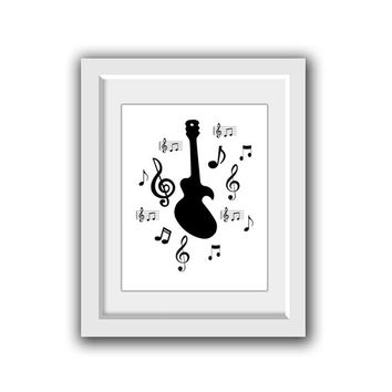 INSTANT DOWNLOAD - Music decor photography Photo home decor music studio Wall decor instant download gift ideas office decor guitar