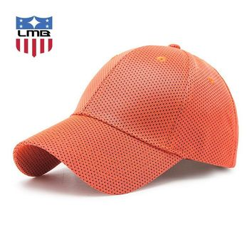 Trendy Winter Jacket LMB Hollow Solid Color Curved Men Hat Casual Outdoor Travel Sport Polyester Snapback Summer Golf Unisex Baseball Caps Women Hats AT_92_12