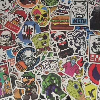 50 Pieces Do Not Repeat PVC Waterproof Fun Sticker Toys The Luggage Stickers Handbag Decoration Laptop Stickers