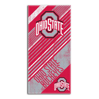 Ohio State Buckeyes NCAA Fiber Reactive Beach Towel (Home Series) (28in x 58in)