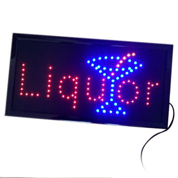 Liquor Neon Lights LED Animated Customers Attractive Sign    110V