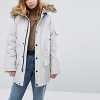 Carhartt WIP Anchorage Parka Jacket With Fur Trimmed Hood at asos.com