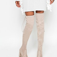 ASOS KINGDOM Heeled Over The Knee Boots