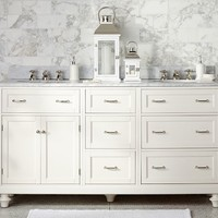 CLASSIC MODULAR DOUBLE SINK CONSOLE WITH DOORS & TURNED LEGS