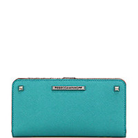 Rebecca Minkoff - Sophie Studded Saffiano Leather Snap Wallet - Saks Fifth Avenue Mobile