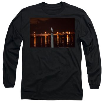 Blue Heron Night - Long Sleeve T-Shirt