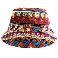 Ceremony Bucket Hat in Tribal Red