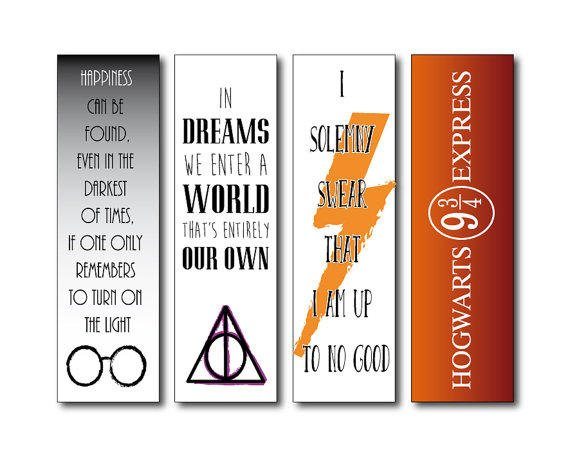 Simplicity image for harry potter printable bookmark