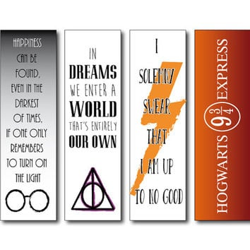 Harry Potter Bookmarks - Instant download - Printable bookmarks harry potter - Dumbledore quote bookmarks -